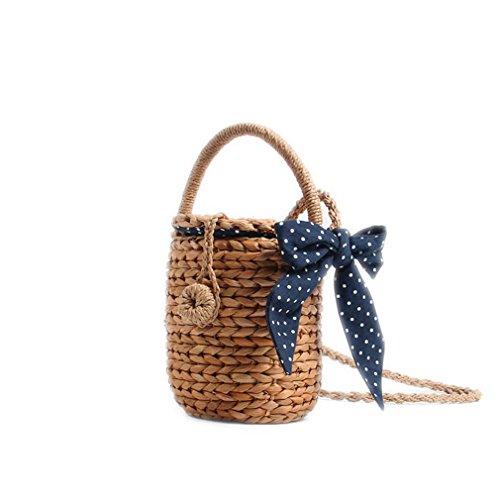 - WIEJDHJ Women Bohemian Straw Bags Ladies Small Beach Weave Handbag Tote Handmade Summer Wicker Basket Rattan Holiday Travel Beige