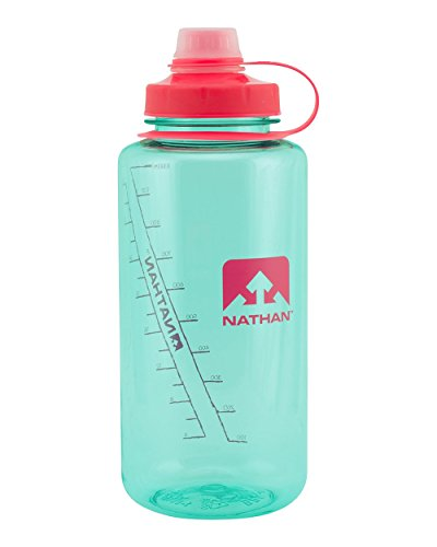 Liter Water Bottle - Nathan Big Shot 1-Liter Bottle, Blue Light, 1-Liter