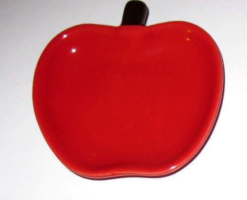 Red Apple Fruit Design Plate Kitchen Utensil Coffee/Tea S...