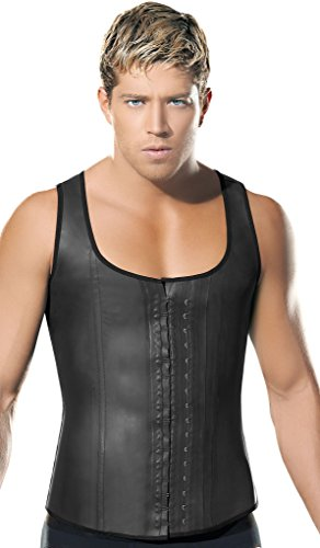 Ann Chery 2033 Chaleco Latex Fajas Para Hombre Men Girdle (Black, XL) by Ann Chery