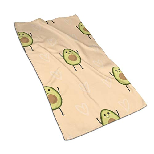Gaojimaojin Cartoon Avocado Floral Print Kitchen Towel Dish Towel Hand Towel Stove Top Towel and Barbeque Towel by Mainstays 28 X 18 Inch