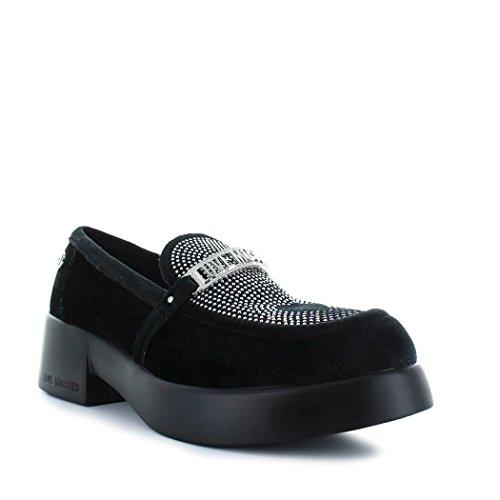 Love Mocassin hiver Noir Moschino 2019 Velours Femme Chaussures Automne pPzxOP