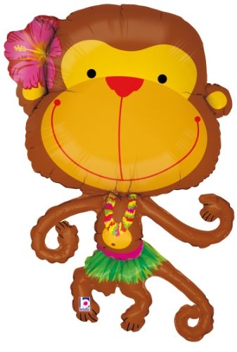 Mayflower Products Linky Monkey Helium Shape Balloon ()