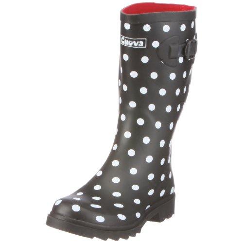 Women's Damengummistiefel Chuva Stip Black Boots Zwart xBYwEq0w