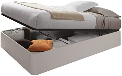 Habitdesign 006077MO - Canapé + somier, Cama elevable Kendra, Color Alpes, válido para colchones de 135x190