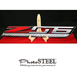 """C7 Corvette ZO6 Super Charged Wall Emblem Large Metal Z06 Art 2015 and Newer Full 35"""" by 5"""""""