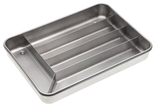 Miu France Brushed Stainless Steel 5 Slot Cutlery Tray