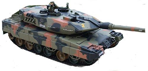 RC Panzer Leopard 2 Kampfpanzer Bundeswehr Auto schiesst echte Kugeln Licht RTR schiesst 25 Meter-mit Munition+Zielscheibe+Beleuchtung