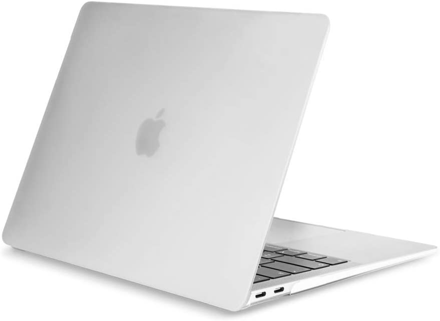 """TOP CASE MacBook Air 13 Inch Case 2020 2019 2018 Release A1932/A2179, Classic Series Rubberized Hard Case Compatible MacBook Air 13"""" with Retina Display fits Touch ID - Matte Clear"""