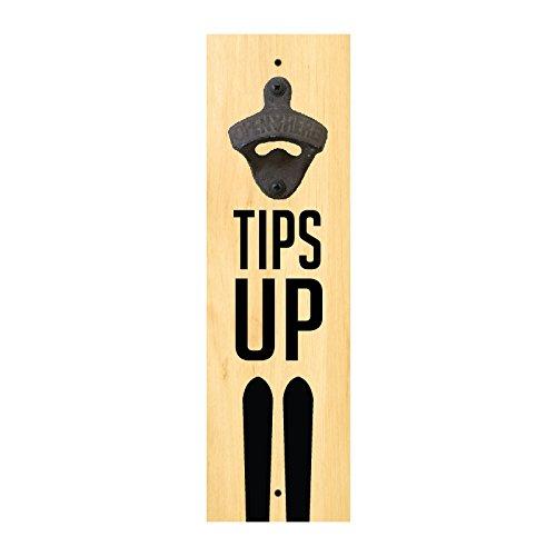 Wall Mounted Bottle Opener - Tips Up