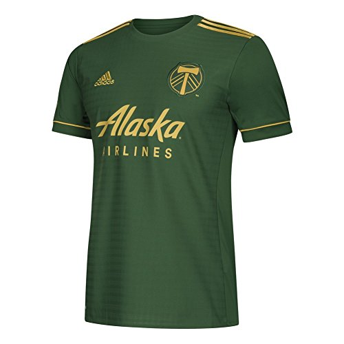 MLS Portland Timbers Adult Men Replica Wordmark s/jersey,2X-Large,Dark ()