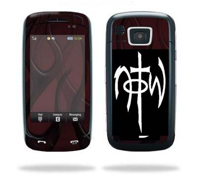 Cell Phone N.O.T.W. NOT OF THIS WORLD White Vinyl Sticker/Decal (1.25