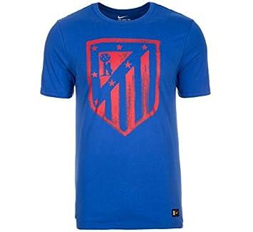 Nike Atlético de Madrid Crest tee Camiseta de Manga Corta, Hombre, Azul Game Royal