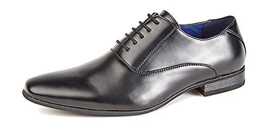 3659823092aa51 Hommes 5 œillet Uni Oxford Cravate Chaussures avec Doublure En Cuir