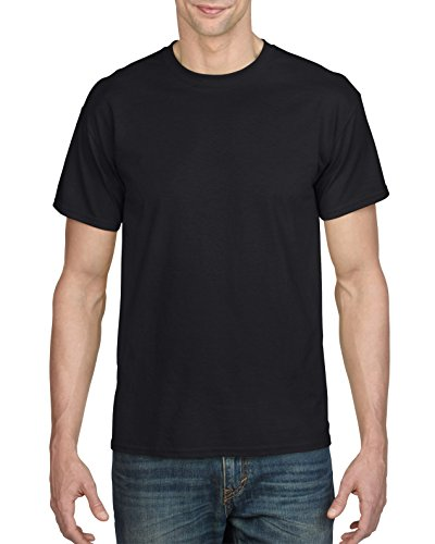 Gildan Men's DryBlend Adult T-Shirt, 2-Pack, Black, Medium