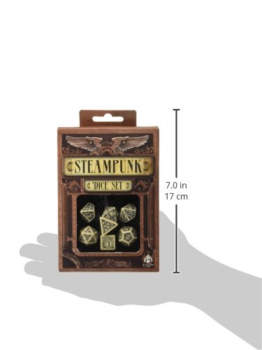 Steampunk Dice Beige/Black (7 Stk.) Board Game 5