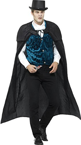 Deluxe Victorian Jack The Ripper Costume Black Large Chest 42
