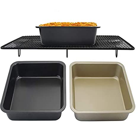 High-quality High-grade Carbon Steel Non-stick Square Tray Cake Mold 8 Inch Square Plate Best Biscuit Table Kitchen Baking Tools Home