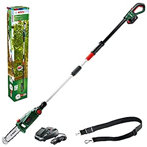 Bosch Home and Garden 06008B3170 Home and Garden UniversalChainPole 18 Cordless Telescopic Chainsaw with 18 V Lithium…