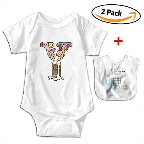 POOPEDD Y Word Unisex Baby Short Sleeve Onesies Toddler Bodysuit OutfitsBodysuits Infant Bibs by POOPEDD