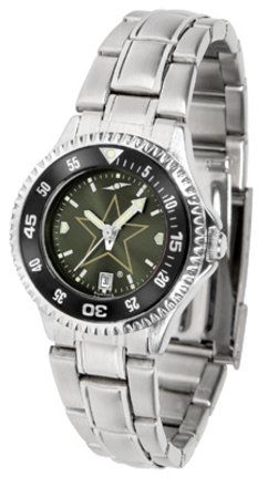SunTime Vanderbilt Commodores Competitor AnoChrome Ladies Watch with Steel Band and Colored Bezel