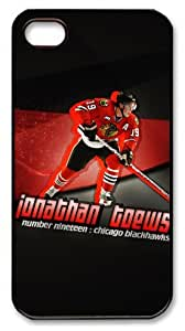 icasepersonalized Personalized Protective Case for iPhone 4/4S - NHL Chicago Blackhawks #19 JONATHAN TOEWS