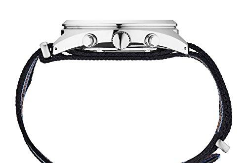 Seiko Men's 'RECRAFT SERIES' Quartz Stainless Steel and Nylon Dress Watch, Color:Black (Model: SSC667)