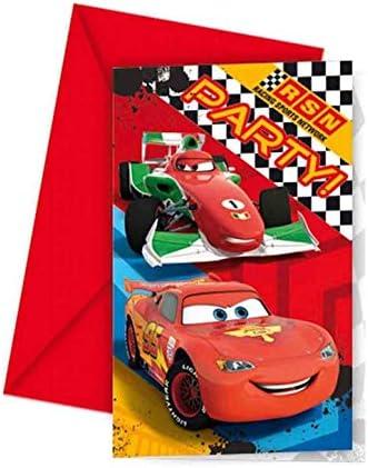 Vasara Invitaciones de cumpleaños de Disney Cars (Pack de 6 uds.): Amazon.es: Hogar