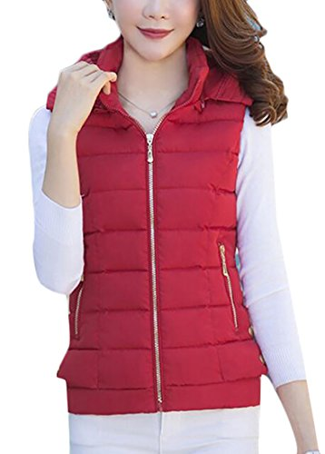 Collar Outwear Stand today Warm Down Vest 6 Quilted UK Womens Hooded Puffer qH0qRfB