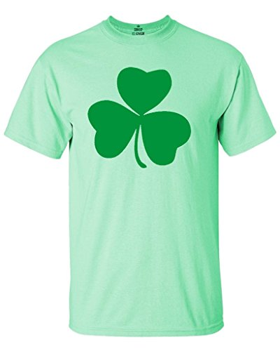 Shop4Ever Lucky Irish Shamrock Clover T-shirt St. Patrick's Day Shirts Medium Mint (Shamrock Mint)