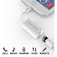 AROTAO iPhone 7 Splitter & Adapter, Dual Lightning Splitter Headphone Audio & Charge Adapter for iPhone 7/ 7 Plus, iPhone 8/ 8 Plus, iPhone X, Support iOS 10.3 and later - White