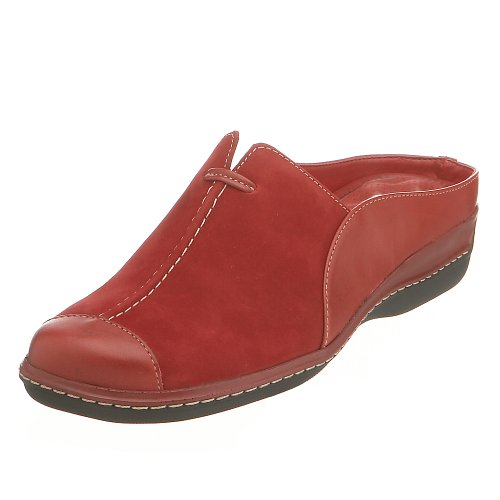 SoftWalk Womens San Mateo Mule,Red Combo,11 WW