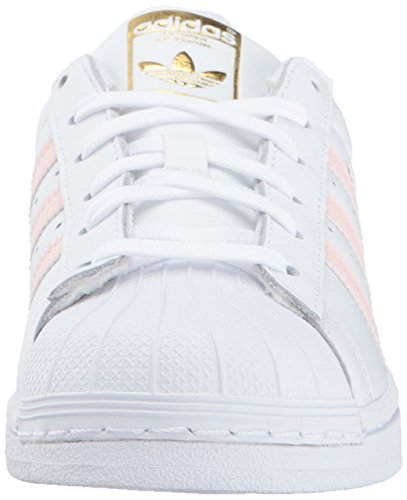 Adidas Leather White Womens Gold Superstar Pink Metallic Ice Trainers 61F6q