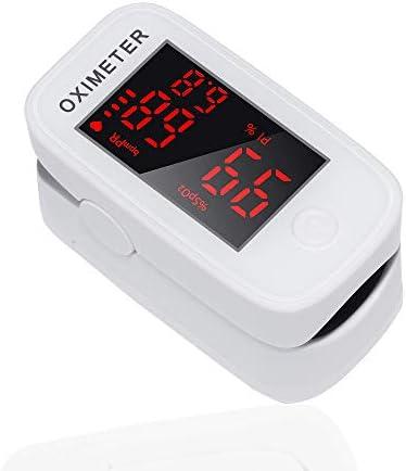 Oxímetro de pulso de dedo - ShoRan Monitor de saturación de oxígeno en sangre con PR (frecuencia del pulso), PI (índice de perfusión)
