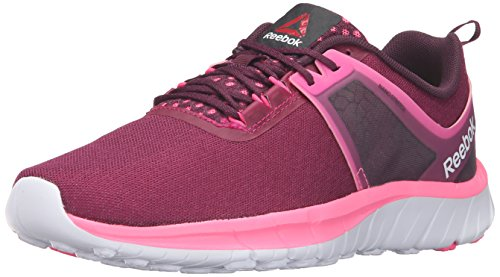 Reebok Women's Z Belle Walking Shoe, Mystic Maroon/Poison Pink/White, 7.5 M US (Womens Tennis Shoes Reeboks)