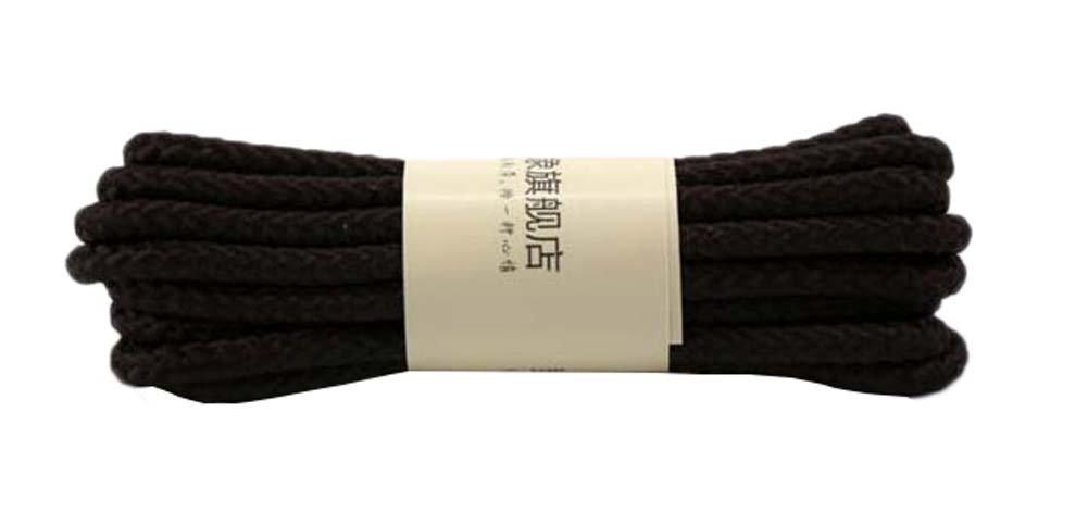 Black Temptation Lacci delle scarpe tondi 39,37 pollici Lacci delle scarpe tinta unita
