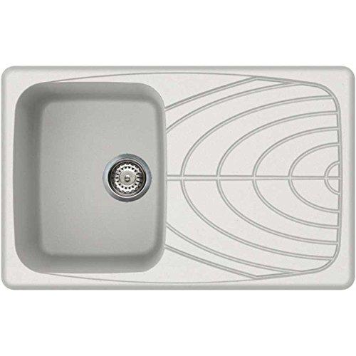 LGM30059 Elleci lavello incasso master 300 1 vasca con gocciolatoio 79x50 reversibile granito granitek antracite 59