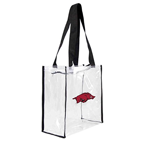 NCAA Arkansas Razorbacks Clear Square Stadium Tote (Razorback Stadium)