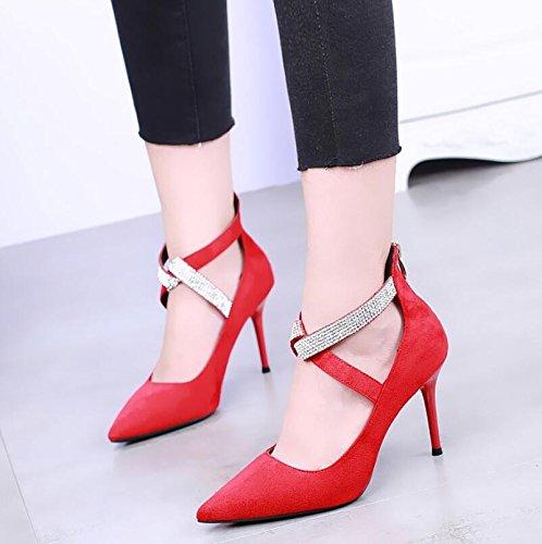 La Talon A Hauts Sexy Chaussures Chaussures four De La Rouge Noce Thirty Talons 9Cm KHSKX À Lumière Chaussures vUgqq4