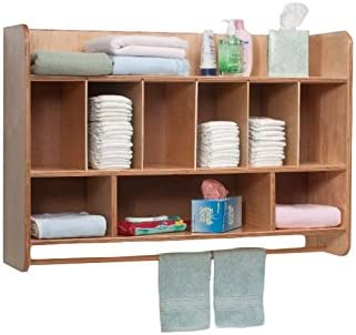 Amazon Com Whitney Brothers Birch Laminate New Wave Hang On The Wall Diaper Unit Office Products
