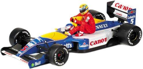 1/43 ウィリアムズ・ルノー FW14 #5(ホワイト×イエロー×ブルー) ナイジェル・マンセル&アイルトン・セナ 1991年イギリスGP 「アイルトン・セナ レーシングカーコレクション」 540 914305