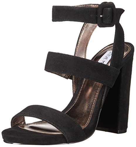 Steve Madden Women Canaan Dress Sandal Black Suede