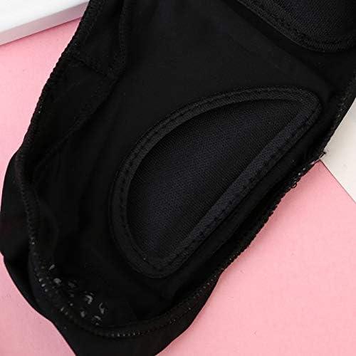 Yoshilimen ニースソックス/ノンスリップ見えない靴下フラットボートソックス/超低カットカジュアル綿ライナーソックス/女性用。(None Black L)