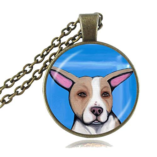 Pit Bull Dog Necklace American Pitbull Terrier Pet Puppy Rescue Pendant Bulldog Jewelry for Animal Lover Accessories]()