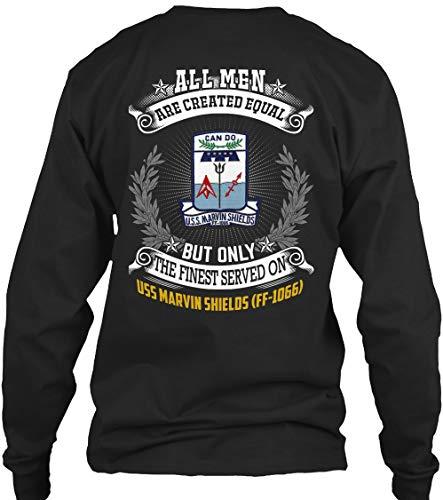 (USS Marvin Shields ff-1066 All Men - Long Sleeve - Get It Now! Black)