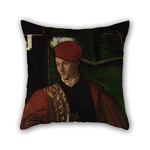 (Artistdecor Oil Painting Bartolomeo Veneto - Lodovico Martinengo Throw Cushion Covers ,best For Wife,bedroom,adults,chair,valentine,teens Boys 18 X 18 Inches / 45 By 45 Cm(twin Sides))