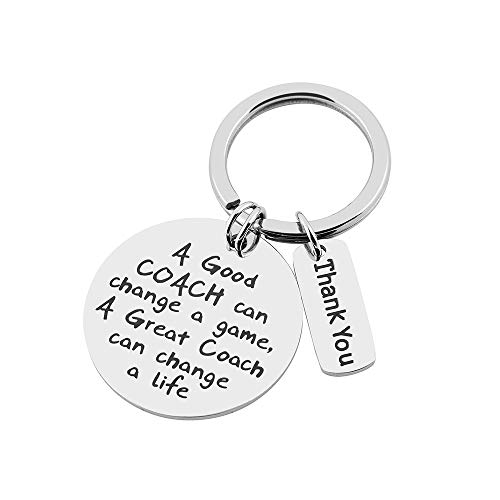 FY Coach Keychain Good Coach Great Coach Keychain Coach Gifts for Men and Women -