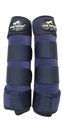 TGW RIDING Horse Sports Medicine Boots Horse Leg Wraps (Navy Blue, S)
