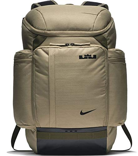 Nike Lebron James LBJ Backpack BA5563-209 Neutral Olive/Olive Canvas/Black One Size