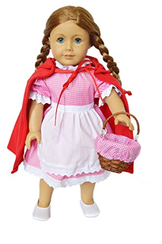 Brittany's My Little Red Riding Hood Compatible with American Girl Dolls- 18 Inch Doll Costume
